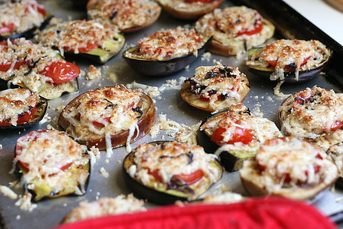 Grilled Eggplant Parmesan | eggplant recipes | grilling recipes | low carb recipes | keto recipes | gluten-free recipes | perrysplate.com