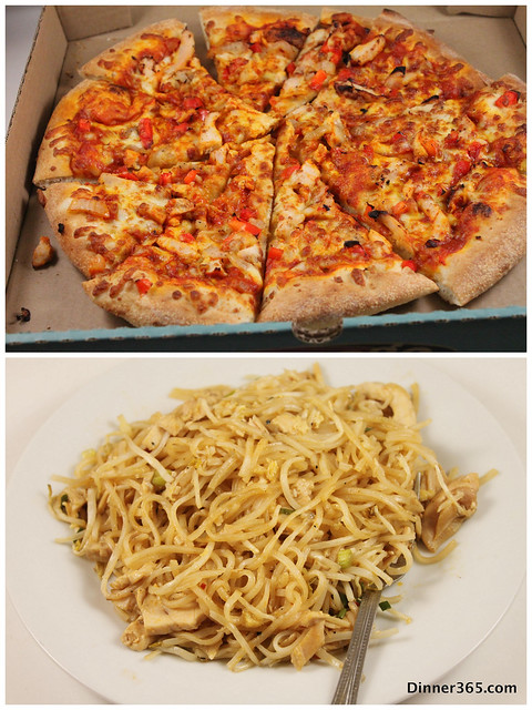 Day 265 - Take out: Butter Chicken Pizza and Pad Thai