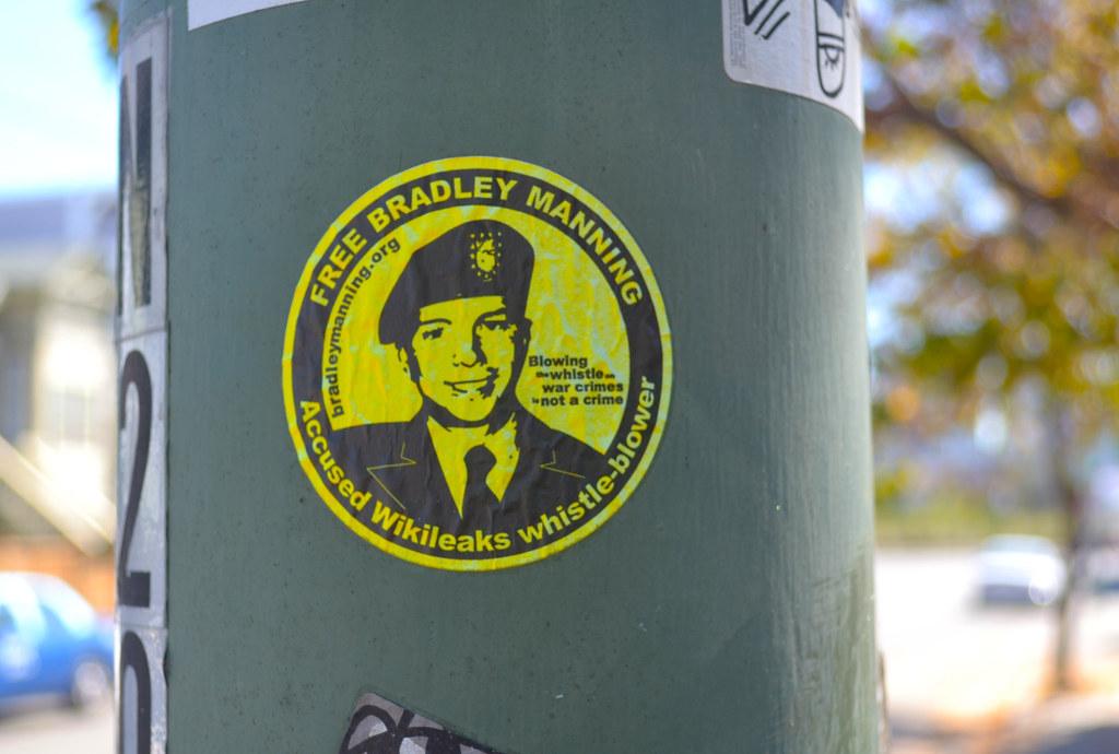 Free Bradley Manning, Sticker,
