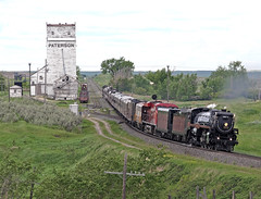 ParkbegSK 2011-06-09 1123CST (Hoopy2342) Tags: railroad train elevator rail railway steam locomotive sk saskatchewan sask tawa 2816 parkbeg