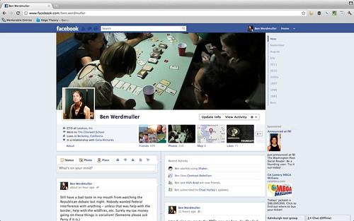 Facebook timeline: main