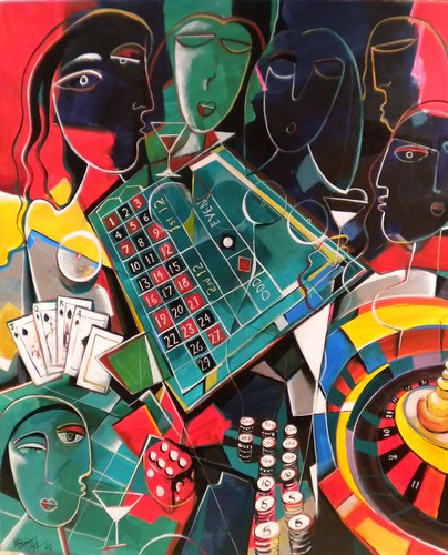 Gamble - Painting - Cubism