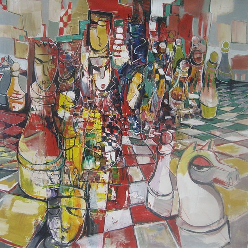 Real Sport - Painting - Neo-Cubism