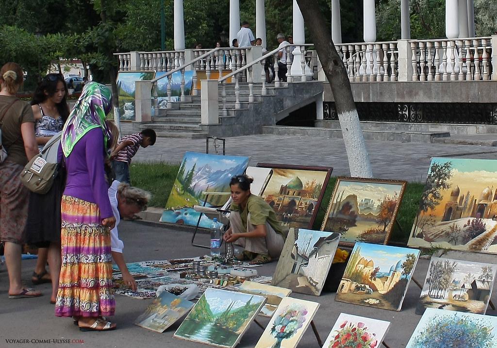 Les tableaux sont de très bonne qualité, vendus en pleine rue