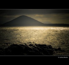 *bedazzled* ( utathyabhadra) Tags: ocean sunset sea nature rocks 100v10f korea 500v50f jeju jejudo cheju wow1 wow2 photographyrocks flickraward platinumheartaward doublyniceshot doubleniceshot flickraward5 blinkagain galleryoffantasticshots