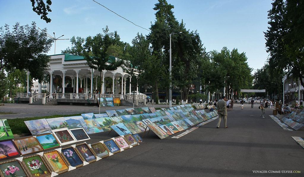 Ce nouveau parc est très bien entretenu et apprécié des habitants de Tachkent