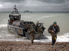 Royal Marines Young Officers Conduct Beach Landing Exercise (Defence Images) Tags: uk beach tank military assault devon british landingcraft defense recruits insertion defence ost amphibious personnel royalnavy trainees dct royalmarines identifiable hmsbulwark youngofficers