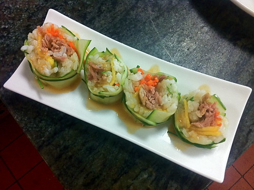 Amuse Bouche - Duck - Cucumber Sushi Roll