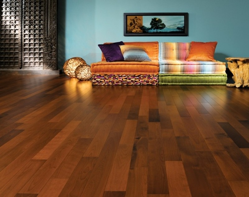 Exotic decor featuring Mirage Breza Bali Coco hardwood flooring...For more information, visit Mirage Floors..+++..All furniture and accessories (except for sofa, rug and painting) : Villa (418-524-266