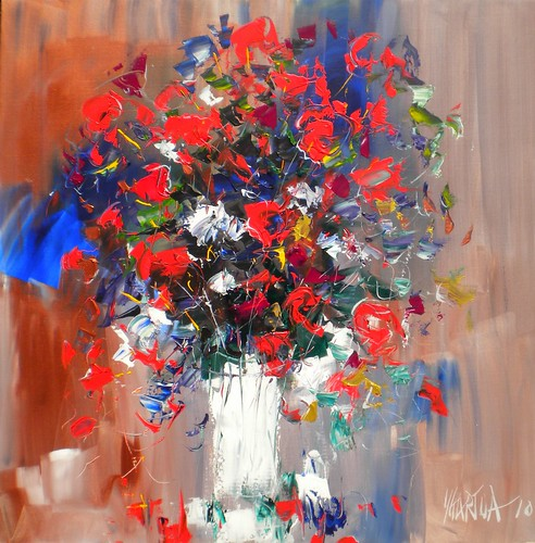 Flowers in Red - Painting