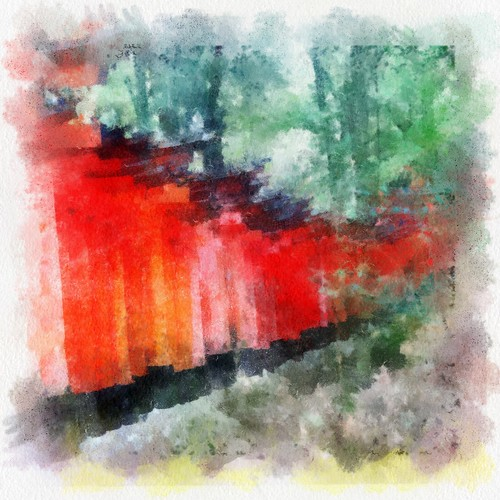 watercolour, fushimi inari