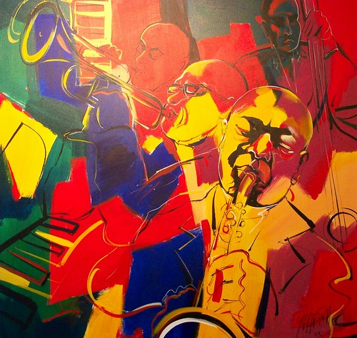 Jazz - Painting with Red and blue colours
