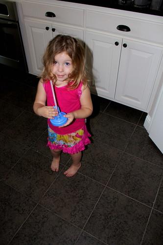 Cheyenne in the kitchen