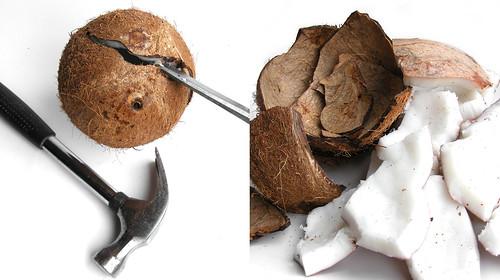 Hoe maak je een kokosnoot open