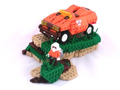 Explorer (Mechanekton) Tags: orange truck lego explorer research armor scifi vehicle cyberpunk