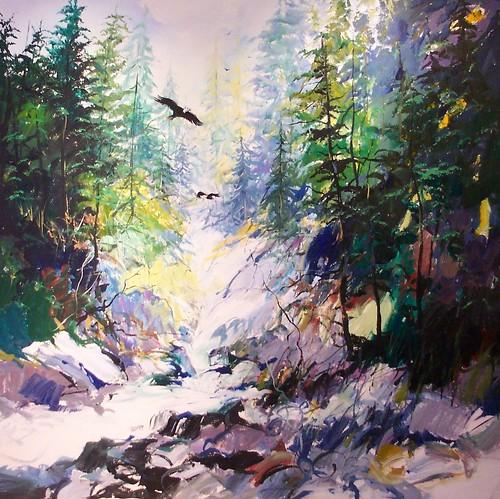 Lynn Valley - Painting - Impressionism