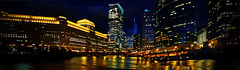 Chicago River & Merchandise Mart - night by doug.siefken
