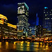 Chicago River & Merchandise Mart - night