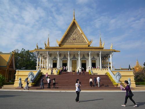 El Palacio Real y la Pagoda de plata de Phnom Penh en Camboya