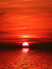 [フリー画像] 自然・風景, 海, 夕日・夕焼け・日没, 201109272300