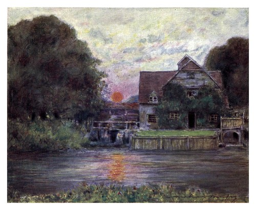 008-Mapledurham Mill-The Thames-1906- Mortimer Menpes