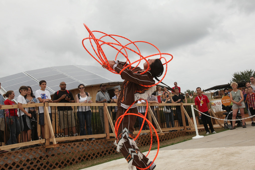 Canada Entertains with Aboriginal Hoop Dancer