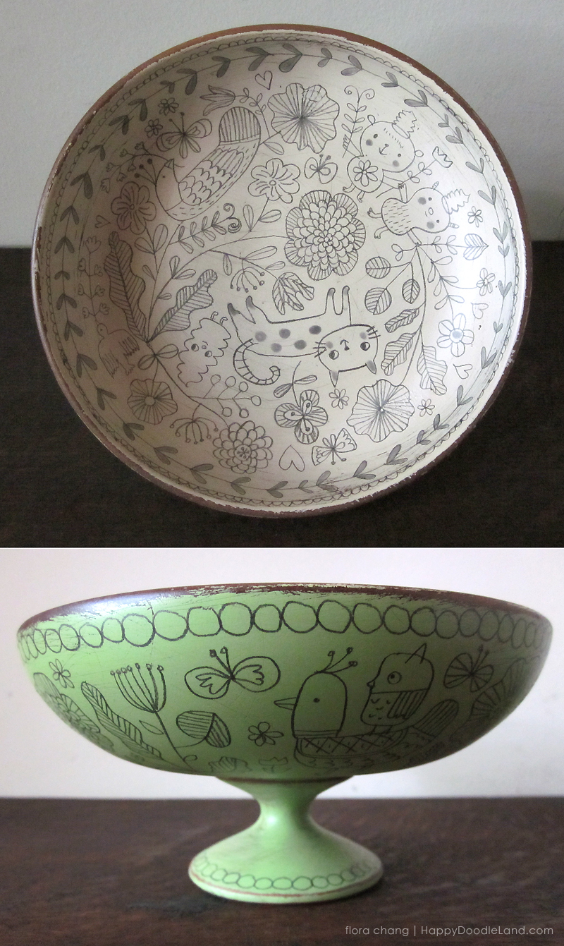 Green Footed Bowl