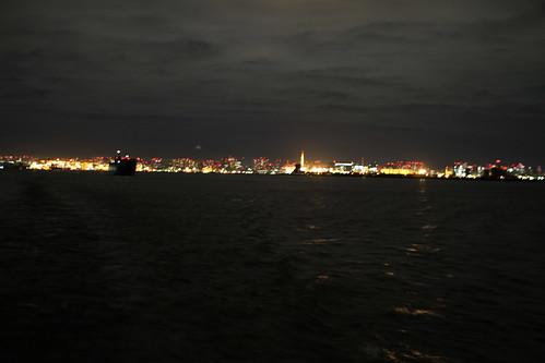 horizonte con luces