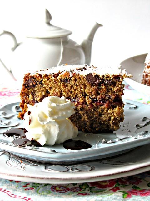 Torta di Grano Saraceno al Cioccolato con Mirtilli Rossi (3)