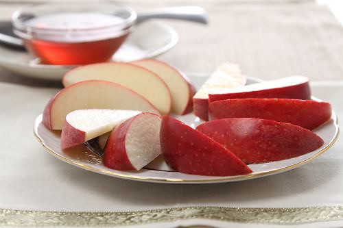 Sliced Apples and Honey