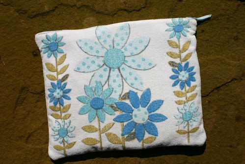 Vintage Towel Zippered Pouch
