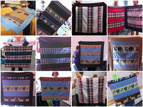 Pendleton Wool Baby Quilt proejcts from my NW Quilting Expo class!