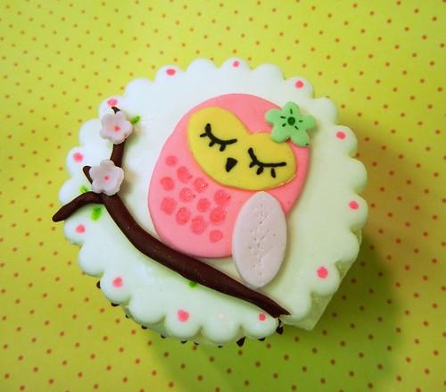 Owl Cupcake Topper