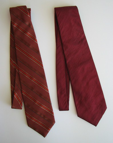 front of two neckties