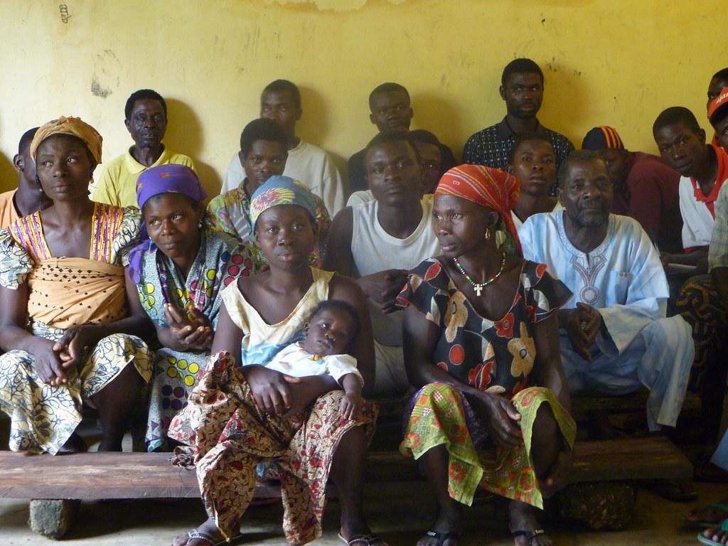 Visite d'un groupement de petits producteurs de café cacao Kougnhou Togo