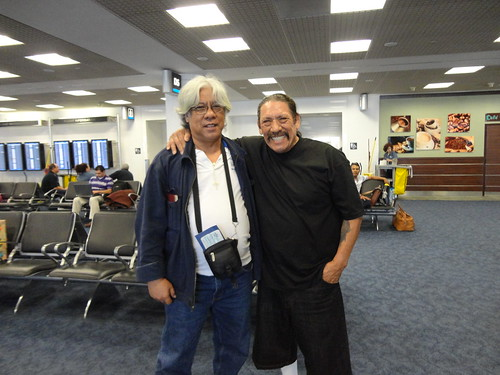 Danny Trejo at the airport