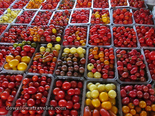 Montreal Girls Getaway tomatoes at Jean Talon market