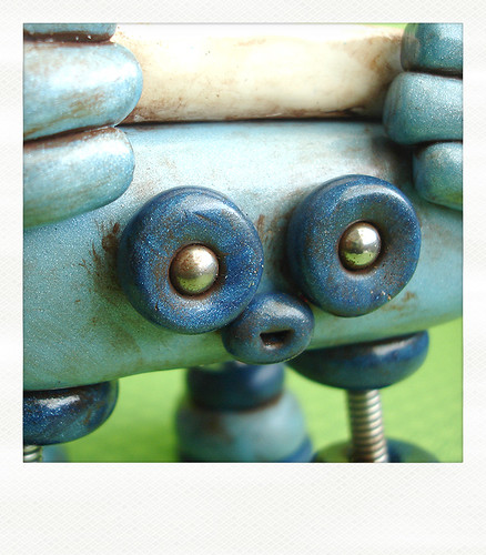 Sneak Peek Blue Grungy Robot is Odd by HerArtSheLoves