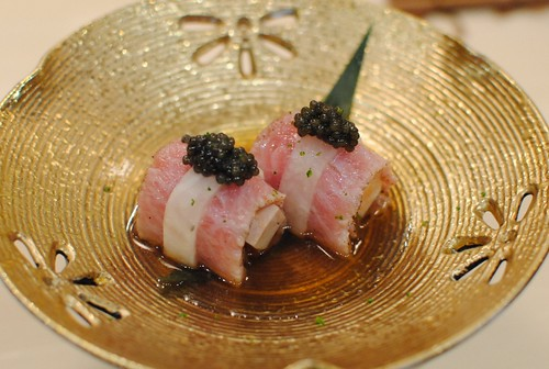 seared toro dish