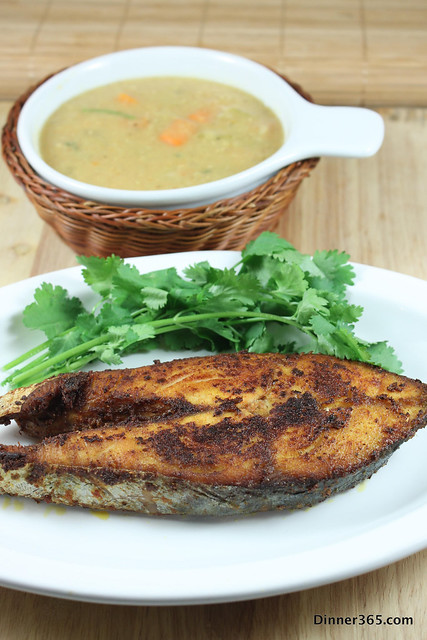 Day 271 - King Fish Fry and Lentil Carrot Soup
