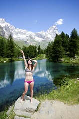 Od Matterhorn (G52cube) Tags: pink blue trees italy alps hot sexy green ice water beautiful grass clouds lago switzerland photo nikon blu top picture posing run off holly clear matterhorn melted abs swis garza seve bikni severiano odneal d7000 g52art