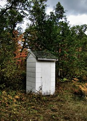 Autumn Outhouse (siskokid) Tags: geotagged outhouse dooley crapper dunny nessy shitter backhouse biffy kybo privy longdrop thunderbox derscheisshaus placeofeasement