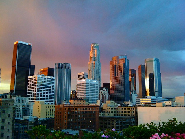 downtown la skyline