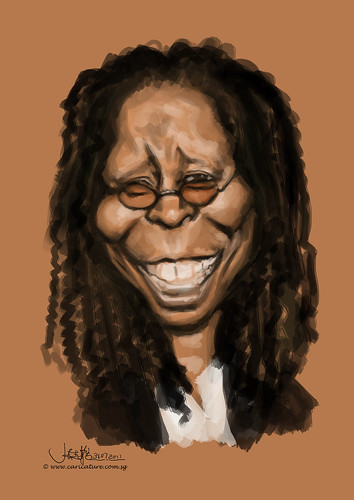 digital caricature of Whoopi Goldberg - 1