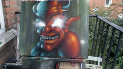 graffiti canvas devil si2 ttk (HULL GRAFFITI) Tags: graffiti canvas ttk si2