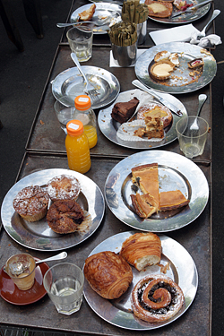 pastries at Bourke Street in Sydney