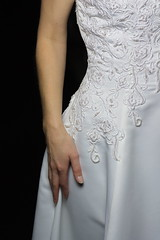 Elegant curves (1.0) (The Bacher Family) Tags: studio model hand weddingdress 500v 1000v elizabethdunn