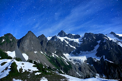Mount Shuksan at Night (mj.foto) Tags: night stars washington unitedstates backpacking astrophotography 24mm northcascades stargazing milkyway lakeann mountshuksan d700 markjosue 09042011201738