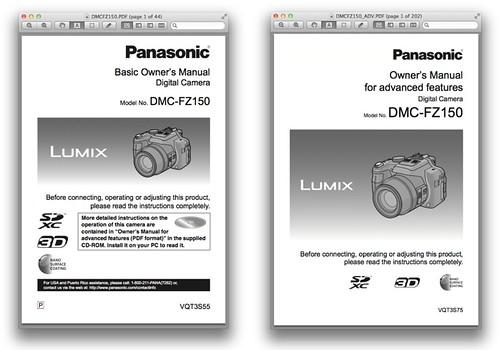 Panasonic FZ150 – Basic and Advanced Manuals