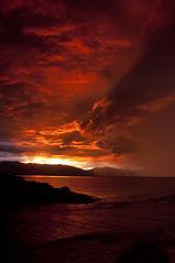 Sunrise Explosion_DSC2137_E (antelope reflection) Tags: sunset orange reflection colors antelopeisland utahstatepark nikond90
